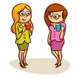 Two Women Coffee Break Royalty Free Stock Photography