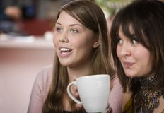 Two women in a Coffee House Stock Photo