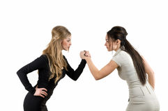 Two women are competing Stock Image