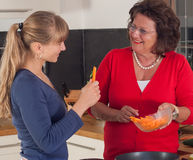 Two Women are cooking Royalty Free Stock Images