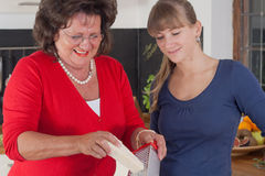 Two women are cooking Royalty Free Stock Photos