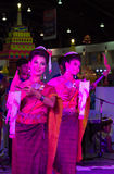 Two women dance thailand northeast culture style Royalty Free Stock Photography
