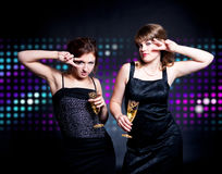 Two women dancing Royalty Free Stock Photos