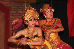 Two women dancing in Bali Royalty Free Stock Photography