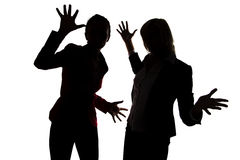 Two women are dancing Royalty Free Stock Photography