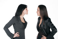 Two women differing Royalty Free Stock Photography