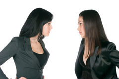 Two women differing Stock Photos