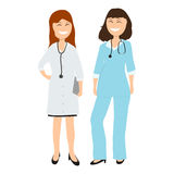 Two women doctor in hospital Royalty Free Stock Image