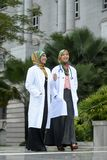 Two Women Doctor With Scarf, Outdoor stock photos