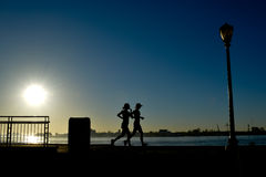 Two Women for Early Morning Jog Royalty Free Stock Photo