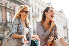 Two Women Enjoying. Royalty Free Stock Image