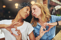 Two women ethnic friends Stock Photography
