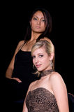 Two Women In Evening Gowns Stock Photography