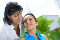 Two women faces Royalty Free Stock Photography