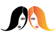 Two women  faces  Royalty Free Stock Photos