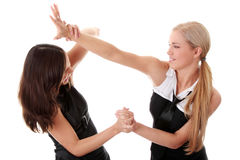 Two women fight Royalty Free Stock Photos