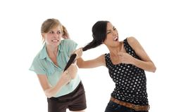 Two women fighting Royalty Free Stock Photo