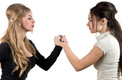 Two women are fighting Royalty Free Stock Image