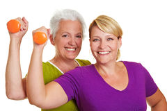 Two women at fitness training Stock Photos