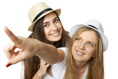 Two women friends having fun. Royalty Free Stock Photo