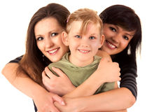 Two women and girl Royalty Free Stock Photography