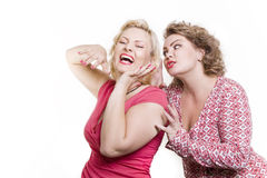 Two women of the girlfriend gossip and have fun Stock Photography