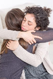 Two women giving a hug Royalty Free Stock Photography