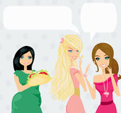 Two women gossip about their fat friend Royalty Free Stock Images