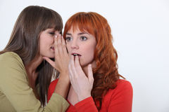 Two women gossiping Stock Images