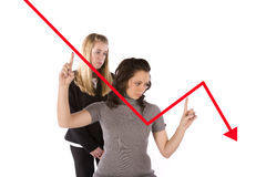 Two women graph Royalty Free Stock Images