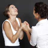 Two women happy Royalty Free Stock Images