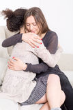 Two women happy Stock Images