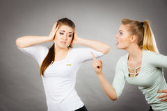 Two women having argue Royalty Free Stock Image