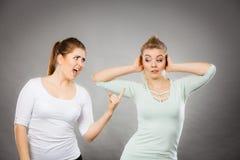 Two women having argue Royalty Free Stock Photo