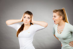 Two women having argue Royalty Free Stock Photography