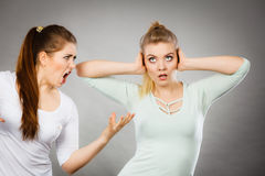 Two women having argue Royalty Free Stock Images