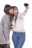 Two Women Having Fun And Taking Pictures Stock Image