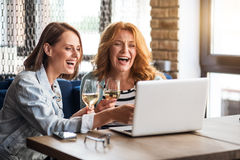 Two women having fun Royalty Free Stock Photo