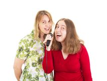 Two women having fun Stock Image