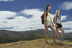 Two Women Hiking In Hills Royalty Free Stock Photos