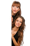 Two Women Hold In Their Hands Clean Poster Stock Photo