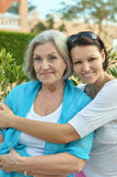 Two women at home Royalty Free Stock Photos