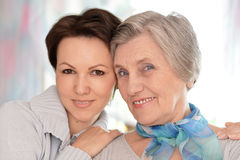 Two women at home Stock Photography