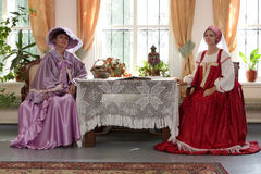 Two women indoor Royalty Free Stock Photo