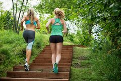 Two Women Jogging Stock Image