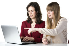 Two women laptop Royalty Free Stock Image