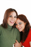 Two women laughing Stock Photos