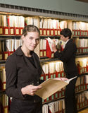 Two women at a library Stock Photos