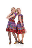 Two Women In Masquerade Clothing Stock Photography