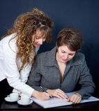Two women in a meeting Royalty Free Stock Images